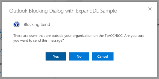 Outlook Blocking Add-in